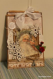 Christmas card in a paperbag