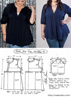 What About Amazing Easy Sewing Projects ? patron blusa plus sise Pattern of summer sleeveless m S media cache pinimg com tunics for women. Dress Sewing Patterns, Blouse Patterns, Clothing Patterns, Blouse Designs, Make Your Own Clothes, Diy Clothes, Costura Fashion, Sewing Blouses, Schneider