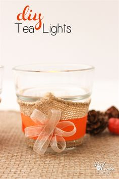 Cute DIY tea lights - perfect for Thanksgiving table