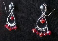 Sparkly figure of eight earrings
