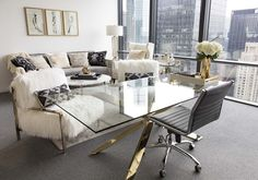 A Glam Office Makeover for Cosmo's New Editor-in-Chief, Laurel & Wolf