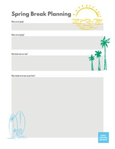 Introduction to Spring Break month + Free Planning Printable Spring Break Destinations, Spring Break Trips, Europe Spring, Travel Books, What Book, Travel Activities, Caribbean Cruise, Plan Your Trip, Travel With Kids