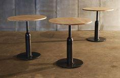 Table APOLLO - oak cross laminated / metal