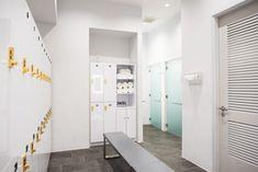 Project Gallery of Completed Locker Rooms Designed by Hollman Locker Designs, Fitness Studio, Lockers, Innovation, Rooms, Luxury, Gallery, Pilates, Studios