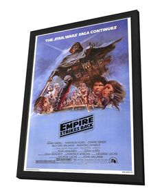 Blue Full Cast 'The Empire Strikes' Framed Poster by Star Wars #zulily #zulilyfinds