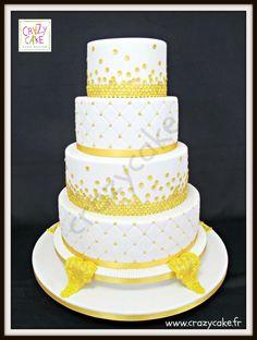 Gold Sequins Wedding Cake - Cake by Crazy Cake