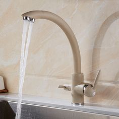 Kitchen Faucets Solid Brass Crane For Kitchen Deck Mounted Water Filter Tap Three Ways Sink Mixer 3 Way Kitchen Faucet Black Faucet Bathroom, Chrome Kitchen, Kitchen Mixer, Kitchen Dinnerware, Kitchen Taps, Kitchen Faucet, Kitchen, Buy Kitchen, Sink