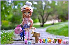 My toys play with me Fairy Crafts, Diy And Crafts, Ooak Dolls, Blythe Dolls, Friendship Quotes Wallpapers, Barbie Images, My Doll House, Cute Cartoon Girl, Kawaii Doll