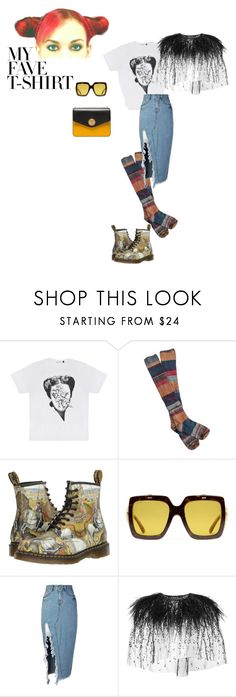"""""""The not so usual tee look"""" by sonali0495 ❤ liked on Polyvore featuring Free People, Dr. Martens, Gucci, storets, Monique Lhuillier, Bally, polyvorecommunity, contestentry, polyvoreset and MyFaveTshirt"""
