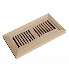 Hardwood Flush Mount Floor Register Vent Unfinished with Damper, 4 inch x 10 inch, White Oak White Oak Wood, White Oak Floors, Floor Register Covers, Stone Flooring, Hardwood Floors, Floor Vent Covers, Unfinished Wood, Red Oak, Home Improvement