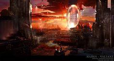 Hades Valiant, cyber city, Dystopia, futuristic city, sci-fi, futuristic architecture, future building, cyberpunk, future city, science fiction