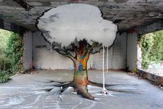 Street artists Papy and Milouz.  France.