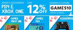 Cupom com 12% de Desconto em Games e Acessórios no Submarino