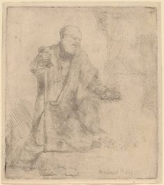 Saint Peter in Penitence Rembrandt1645