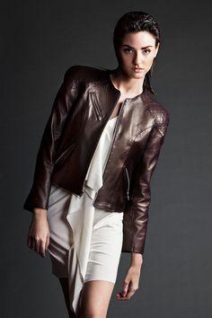 Women's Leather Jacket/ Biker's Jacket/ Motorcycle by kagfashion
