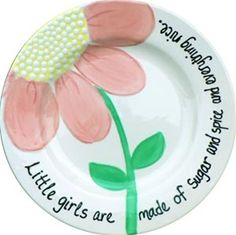 A personalized plate makes the perfect gift for a precious child. Imagine the smiles and special moments while your child or grandchild enjoys this beautiful verse and image. Each plate is hand-painted and signed by London Edwards of Little Dish.
