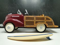 Pedal Car Woody Ford 1939 Wagon 1940s Woodie Hot Rod Vintage Classic Rare Midget
