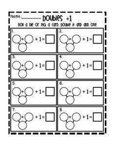 Free} Doubles and Doubles Plus One Task Cards (English an | Math ...