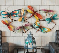 Dragonfly Swarm Metal Wall Decor - Pets and Animals