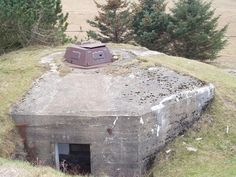 Bunker with tank turret on top.