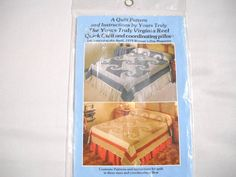 Virginia Reel Yours Truly Quick Quilt Pattern 3 Sizes and Pillow New Sealed #YOURSTRULY