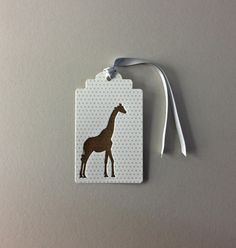 Giraffe Letterpress Hang Tags - Dolce Press
