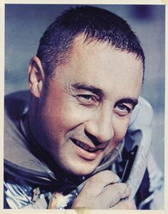 Mercury astronaut Gus Grissom on the phone with John F. Kennedy after becoming…