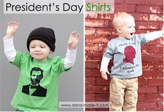 """TUTORIAL: President's Day shirts (""""Intermediate"""" Freezer Paper Stenciling) 