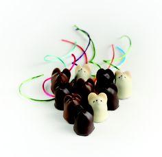 Chocolate mice from Burdick's in Walpole, NH