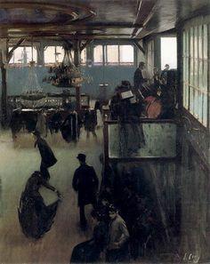 RAMÓN CASAS, Baile en el Moulin de la Galette, 1890-91