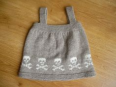 Baby girl's skull dress free pattern