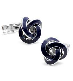 Cufflinks Inc - Ravi Ratan Classics Sterling Blue Knot Cufflinks