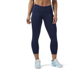 Reebok Workout Ready Cropped Legging - Blue  cf0ca74d8c7