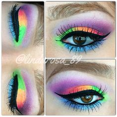 Neon Eyeshadow.  Sleek Acid Palette.