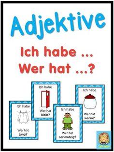 German adjectives - Ich habe ... Wer hat ...? game