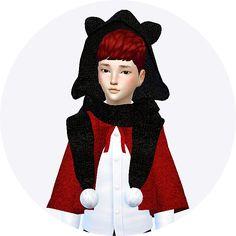 Marigold : Child cat hood scarf unisex.