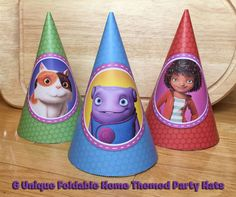 6 DIY Home Party Hats - Download, Print, Roll and Glue - Dreamworks Home Movie Party Hats Home Hats Printable Dreamworks Home Party Hats by InstantBirthday on Etsy
