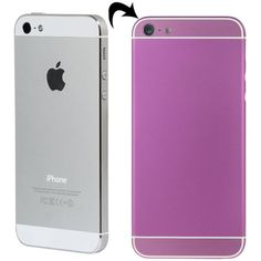 [USD27.35] [EUR24.86] [GBP19.29] Full Assembly Replacement Metal Housing Cover with Appearance Imitation of iPhone 6 & 6S for iPhone 5, Including Back Cover & Card Tray & Volume Control Key & Power Button & Mute Switch Vibrator Key, White Line(Purple)