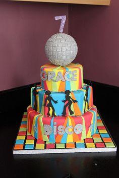 DISCO CAKE by Andrias cakes scarborough, via Flickr