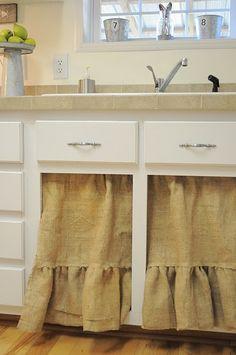 Under sink curtains