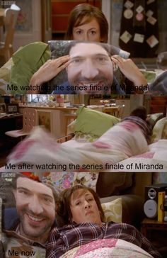 """hownottobeindie: The emotional rollercoaster that has been my evening """"I must duvet cocoon"""" Exactly ; British Sitcoms, British Memes, British Comedy, Miranda Tv Show, Miranda Bbc, Bbc Tv Shows, Watch Tv Shows, Miranda Hart Quotes, British Celebrities"""
