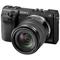 Sony NEX-7 24.3 MP Compact Interchangeable Lens Camera with 18-55mm Lens: http://www.amazon.com/Sony-Compact-Interchangeable-Camera-18-55mm/dp/B005IKZU8O/?tag=cheap136203-20