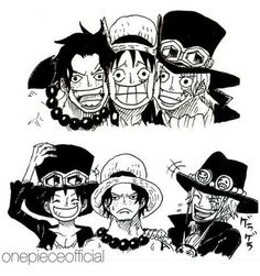 ASL Manga Anime, Anime Couples Manga, Cute Anime Couples, Anime Art, Manga Girl, Anime Girls, Sabo One Piece, One Piece Ship, One Piece Luffy