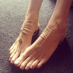 I don't really like a lot of these sole - less sandal things but these are simply gorgeous. So elegant