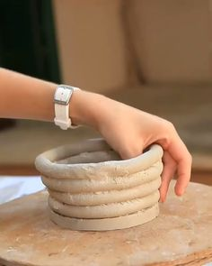 """The word """"ceramics"""" comes form the Greek word """"keramikos"""", which means pottery. The origin of the Greek word means potter's clay and ceramic art directly … Ceramic Clay, Ceramic Pottery, Coiled Pottery, Glazes For Pottery, Pottery Painting, Ceramic Painting, Beginner Pottery, Cerámica Ideas, Pottery Handbuilding"""
