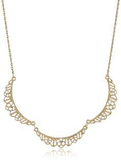 "Downton Abbey ""Gilded Age Carded"" Gold-Tone Petite Belle Epoch Filigree Scallop Collar Pendant Necklace, 16"" Downton Abbey,http://www.amazon.com/dp/B00EO2WYMC/ref=cm_sw_r_pi_dp_nrs.sb0PQCFKSZTA"