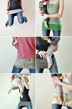 Bauchband aus alten Shirts inkl. Anleitung / Belly belt made from old shirts incl. tutorial / Upcycling