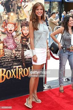 """Actress Eva LaRue attends the """"The Boxtrolls"""" - Los Angeles Premiere Benefiting The Imagination Foundation at Universal Studios Hollywood on September 2014 in Universal City, California. Get premium, high resolution news photos at Getty Images Two And Half Men, Eva Larue, Hot Actresses, Beautiful Celebrities, My Girl, Peplum Dress, Hollywood, Female, Toe Nails"""