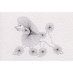 The design from Stitching Cards features a poodle dog with a continental clip.