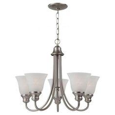 Sea Gull Lighting Windgate 5-Light Brushed Nickel Single Tier Chandelier-35940-962 - The Home Depot $144